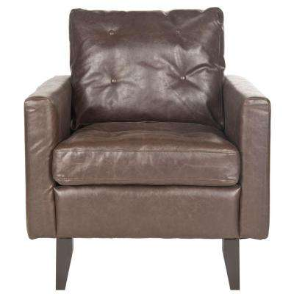 Caleb Antique Brown/Espresso Bicast Leather Club Arm Chair