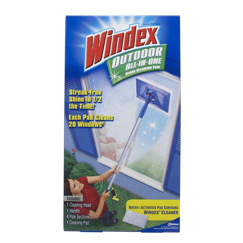 Windex Outdoor All-In-One Glass Cleaning Tool Kit (6-Pack)