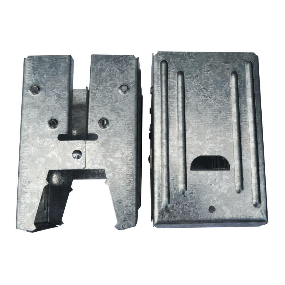HDX 5.5 in. Steel Galvanized Sawhorse Brackets (2-Pack)