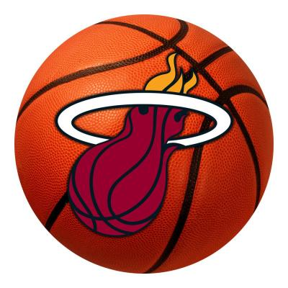 NBA - Miami Heat Photorealistic 27 in. Round Basketball Mat