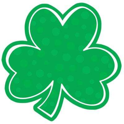 8 in. St. Patrick's Day Green Paper Polka Dot Shamrock Cutout (29-Pack)
