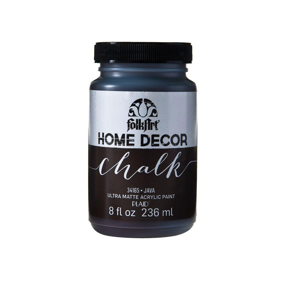 Folkart Home Decor 8 Oz Java Ultra Matte Chalk Finish Paint 34165