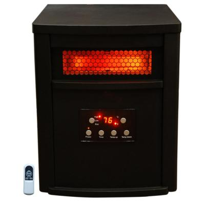 1500-Watt 8-Element Infrared Electric Portable Heater with Remote Control, Thermostat, Timer and Multi Heat Settings