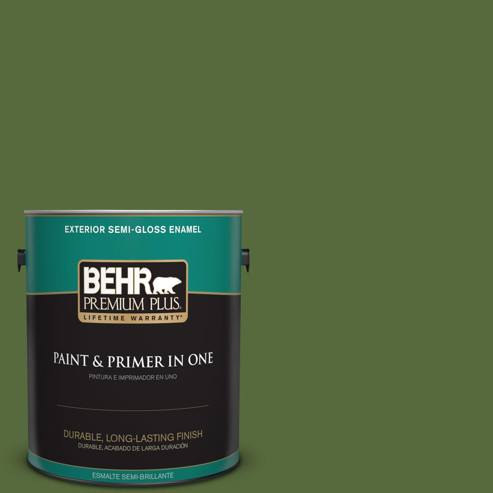 BEHR Premium Plus 1-gal. #410D-7 Mountain Forest Semi-Gloss Enamel Exterior Paint
