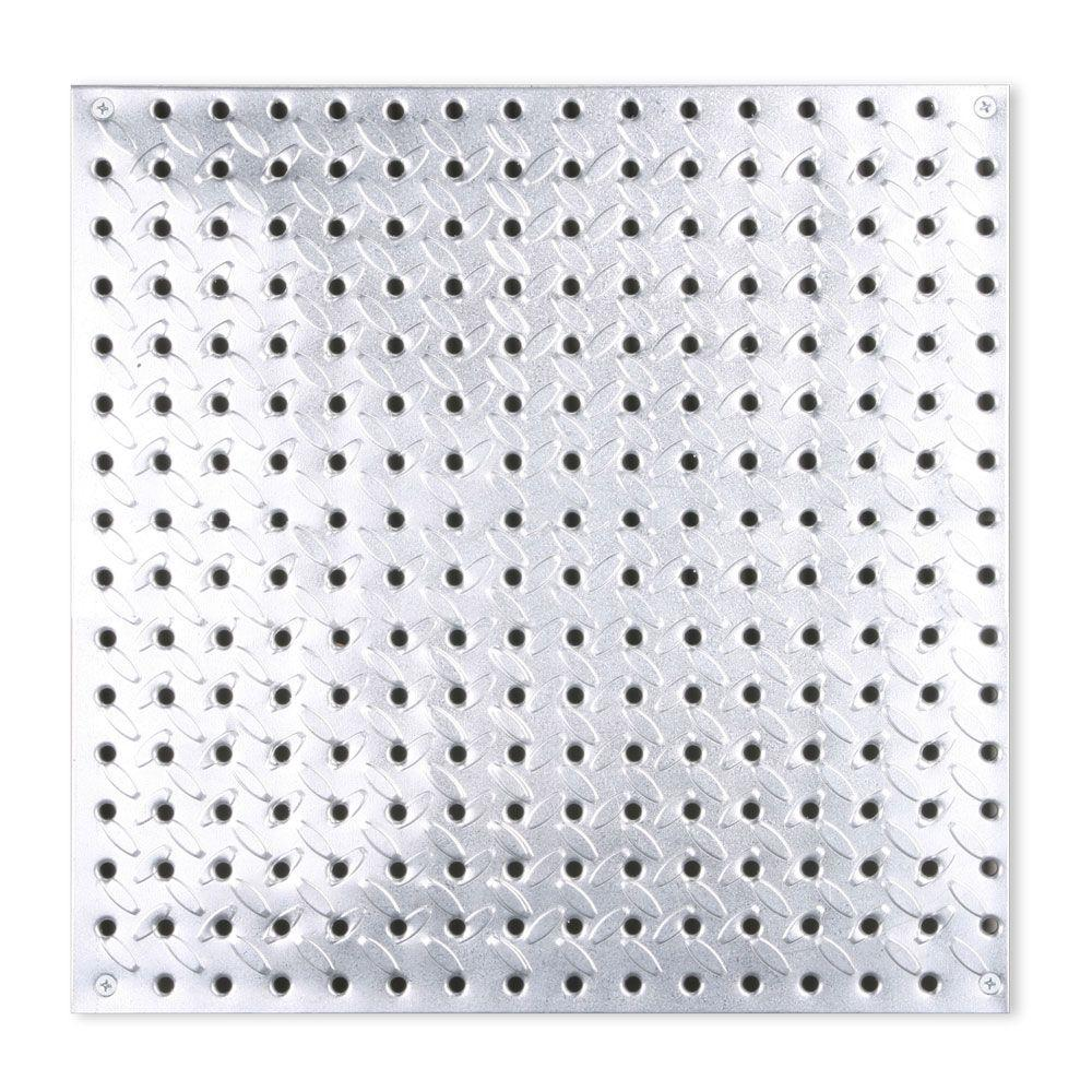 16 in. x 16 in. Diamond Plate Galvanized Steel Pegboard