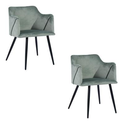 Cactus Velvet Upholstered Dining Chair Stylish Side Chairs (Set of 2)