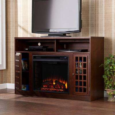 Amelia 48 in. Freestanding Media Electric Fireplace TV Stand in Espresso