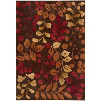 Contour Chocolate 5 ft. x 7 ft. 6 in. Area Rug