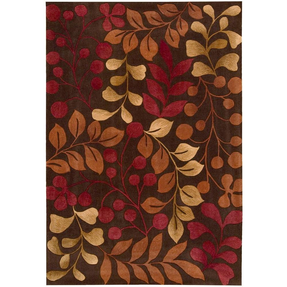 Contour Chocolate 8 ft. x 10 ft. 6 in. Area Rug