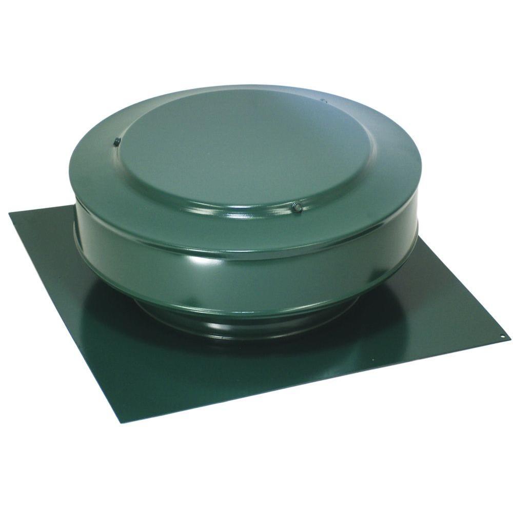 13 in. x 5 in. Aluminum 8 in. Dia Low Profile 50 sq. in. NFA Roof vent in Green Powder Coat