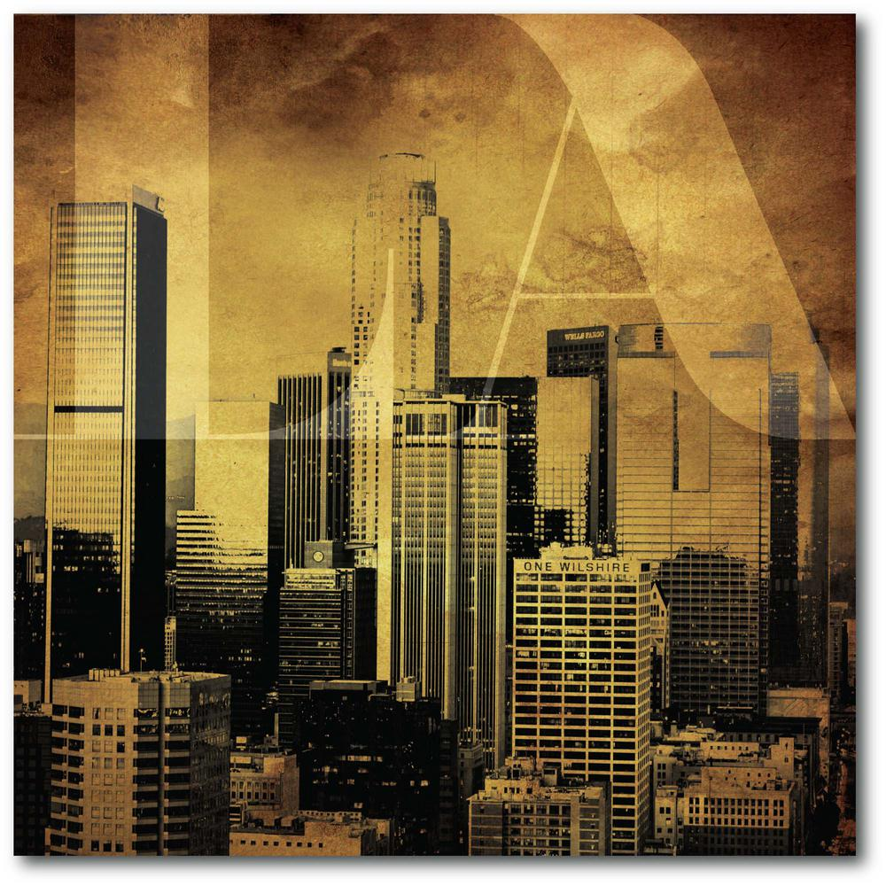 Courtside Market Golden LA 24 in. x 24 in. Gallery-Wrapped Canvas Wall Art, Multi Color was $115.0 now $64.03 (44.0% off)