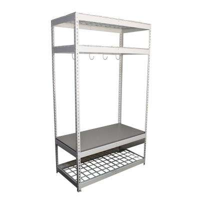 2 ft. D x 4 ft. W x 7 ft. H Adjustable 4-Tier Sports Equipment Storage Rack