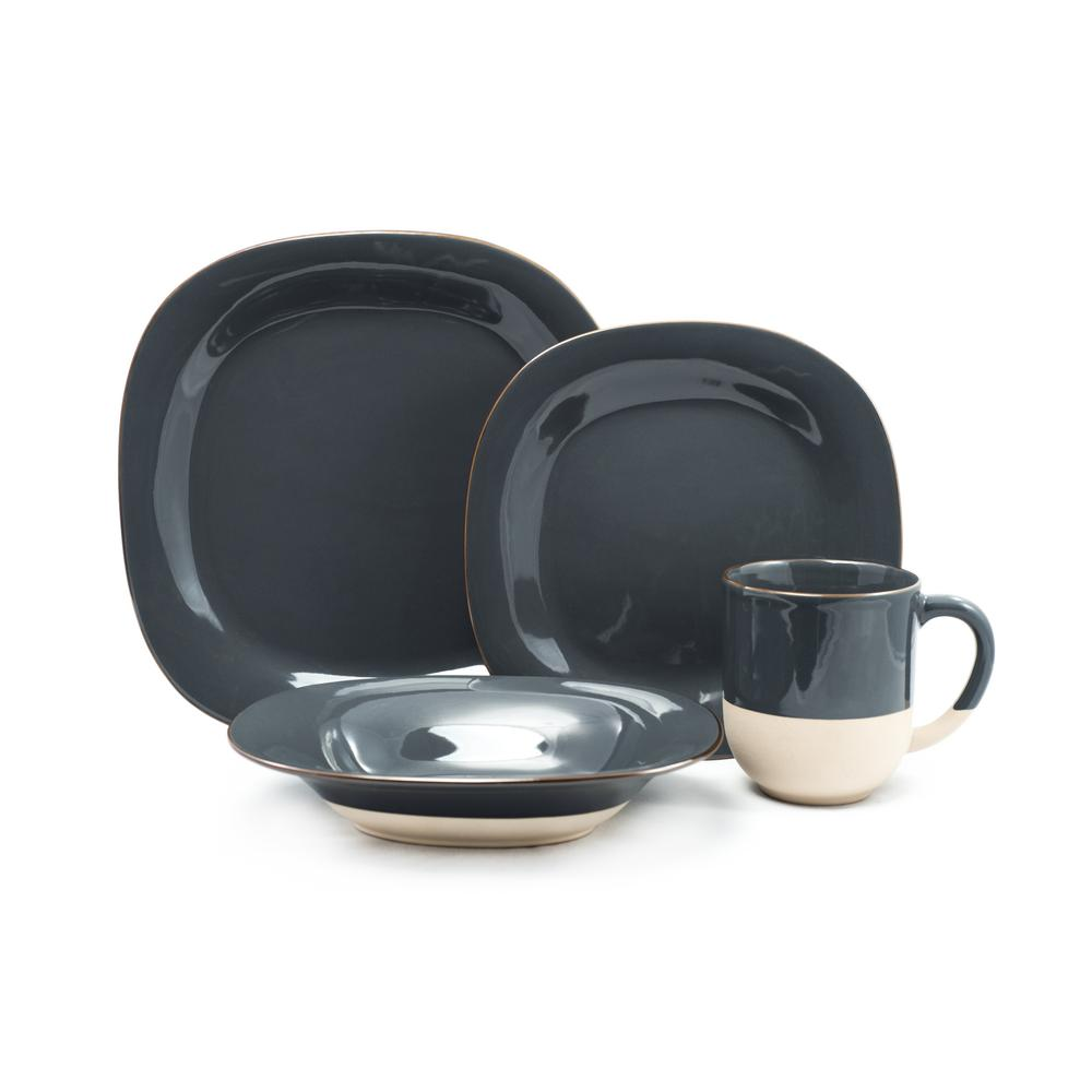 16 Piece Grey Riserva Dinnerware Set