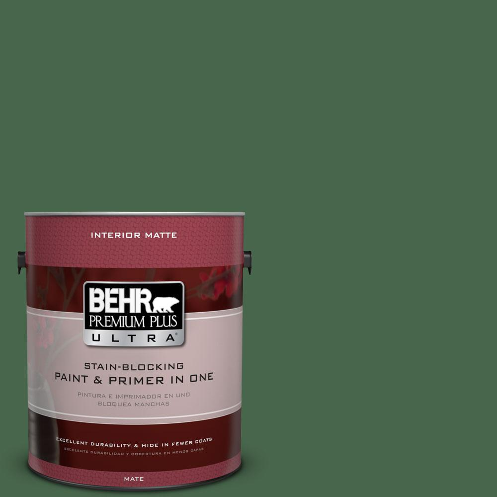 BEHR Premium Plus Ultra 1 gal. #460D-7 Sabal Palm Flat/Matte Interior Paint