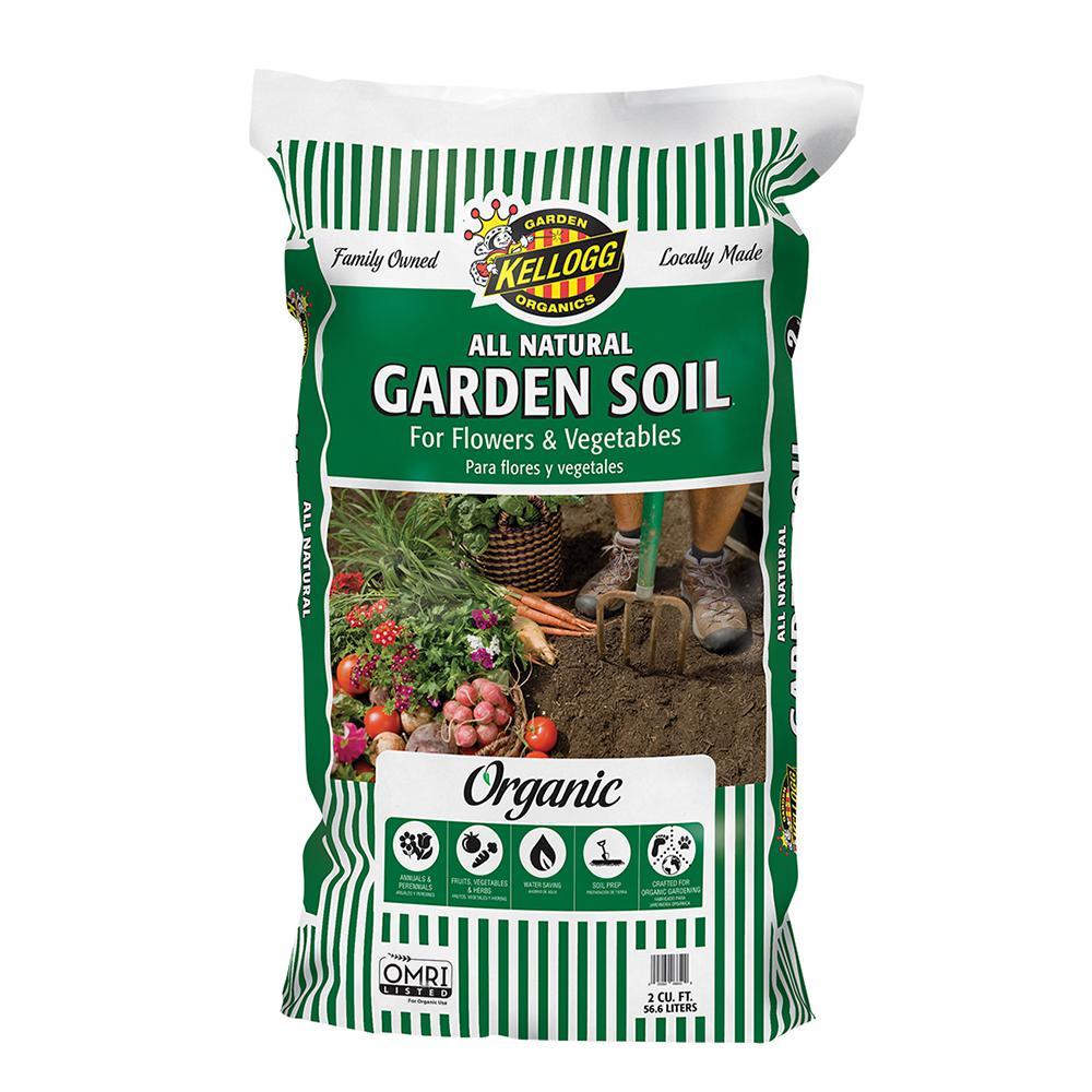 Kellogg Garden Organics 2 cu. ft. All Natural Garden Soil for Flowers and Vegetables