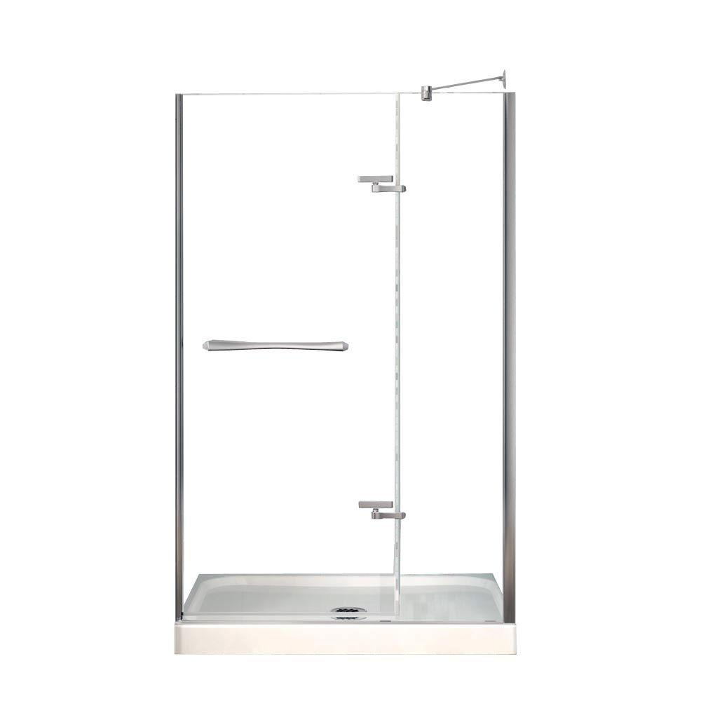 MAAX Reveal 36 in. x 48 in. x 76-1/2 in. Shower Stall in White