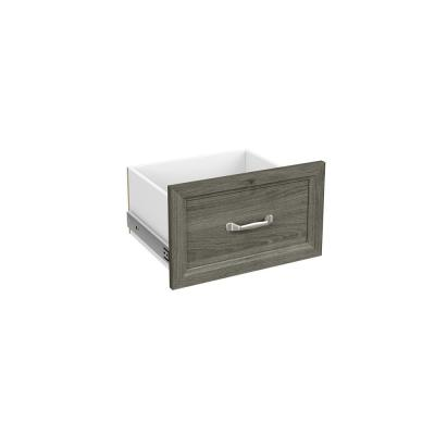 Style+ 10 in. H x 17 in. W Coastal Teak Melamine Traditional Drawer Kit for 17 in. W Tower