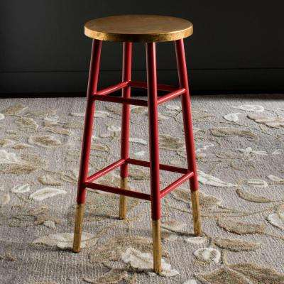 Red And Gold Bar Stool