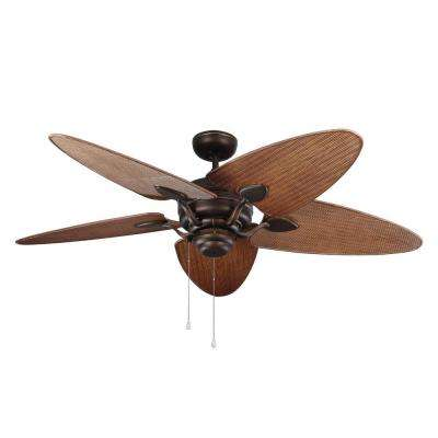 Peninsula 56 in. Outdoor Roman Bronze Ceiling Fan