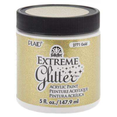 Gold Extreme Glitter Acrylic Paint