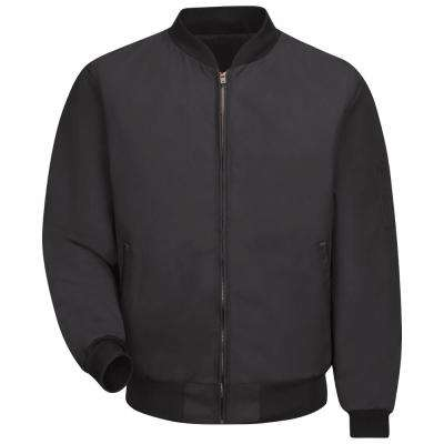 Men's Large Black Solid Team Jacket