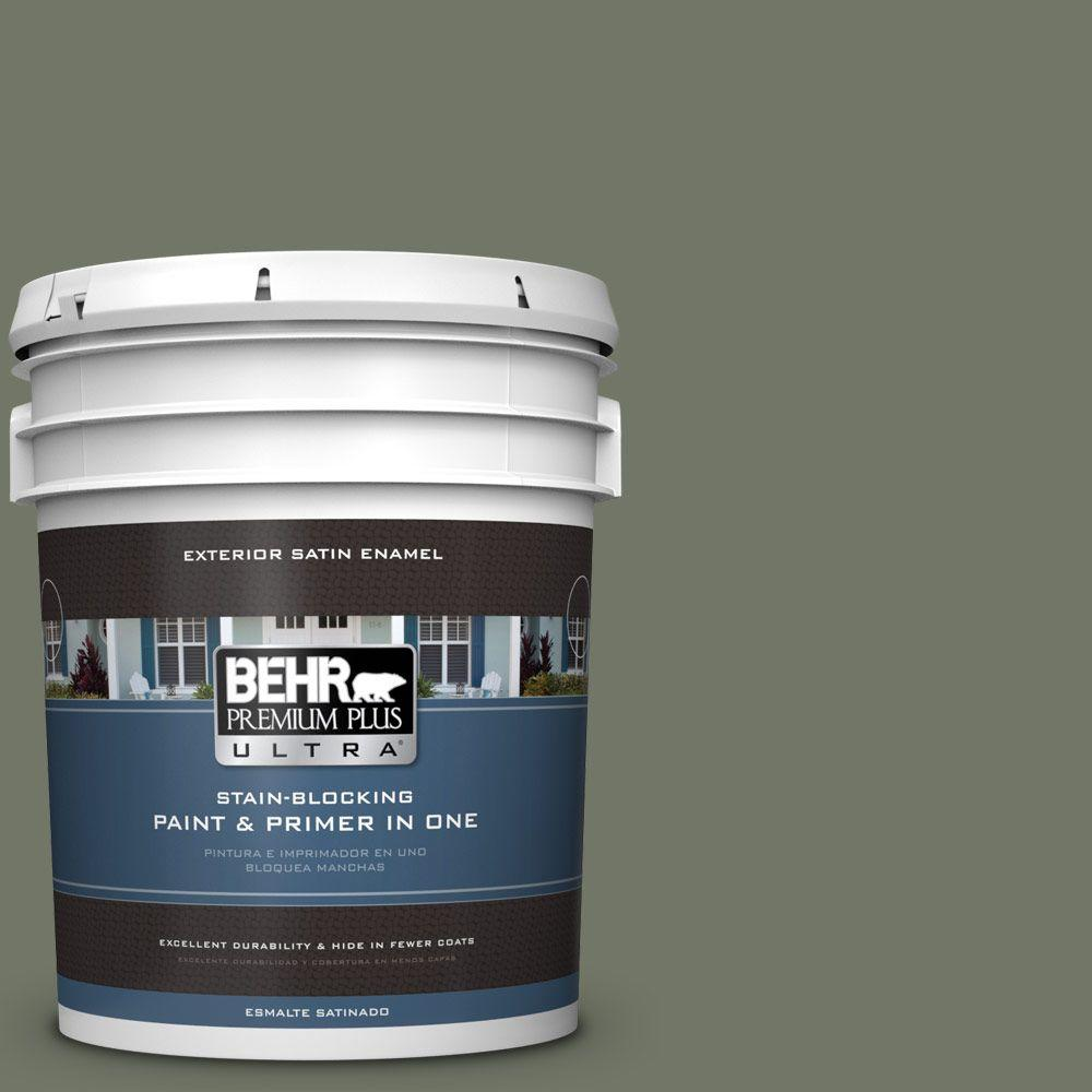 5-gal. #PPU10-19 Conifer Green Satin Enamel Exterior Paint