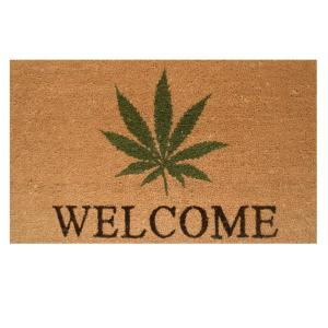 Home & More Cannabis Welcome Door Mat 17 inch x 29 in. by Home & More