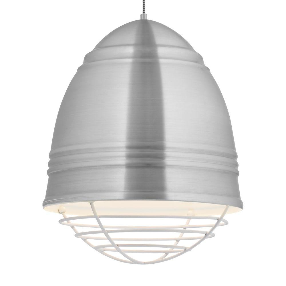 Loft Grande 3-Light Aluminum / White LED Line-Voltage Pendant
