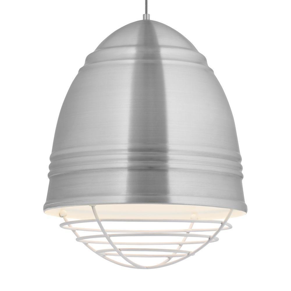 Loft Grande 3-Light Aluminum / White LED Line-Voltage Pendant