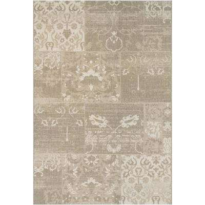 Afuera Country Cottage Beige-Ivory 9 ft. x 12 ft. Indoor/Outdoor Area Rug