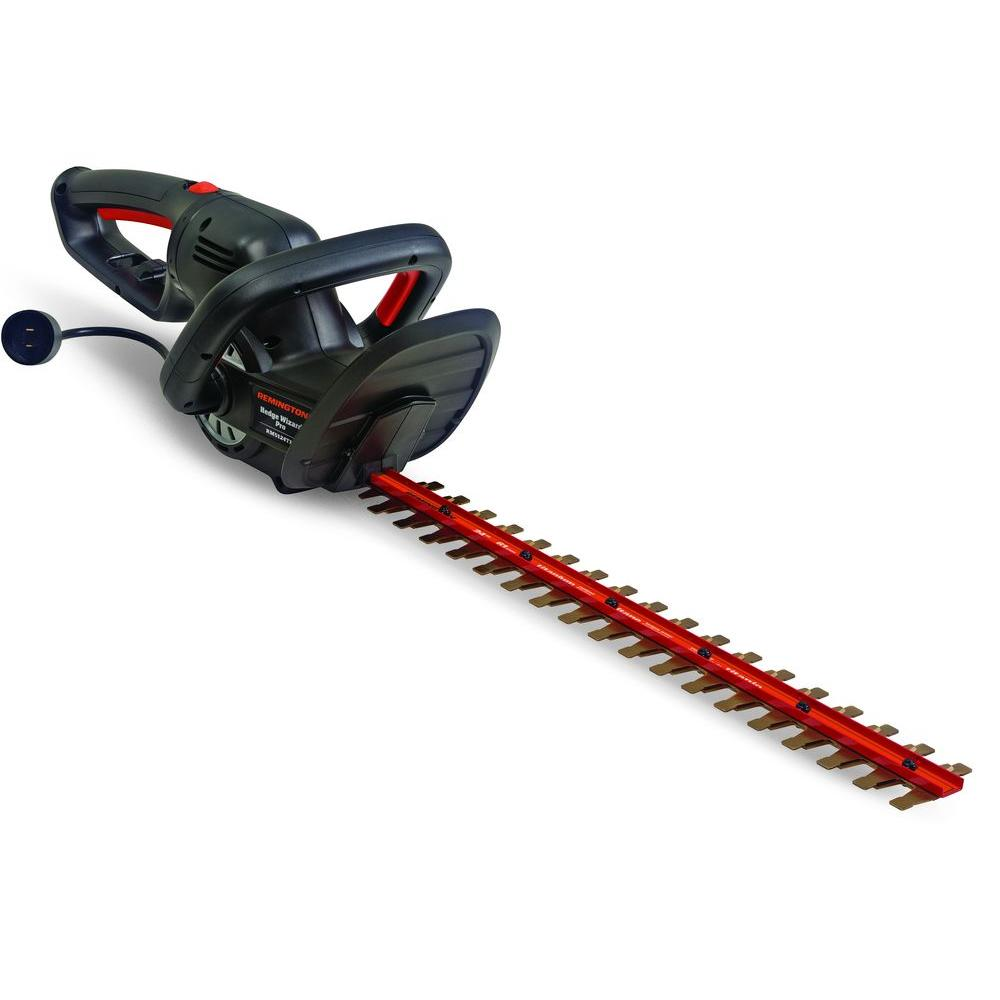 Remington Blaze 24 in. 5 Amp Dual-Action Electric Hedge Trimmer with 180 Degree Rotating Handle