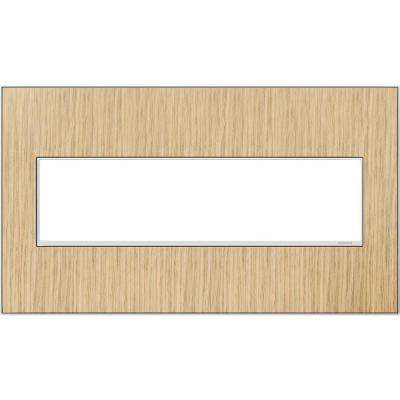 4-Gang 4 Module Wall Plate - French Oak