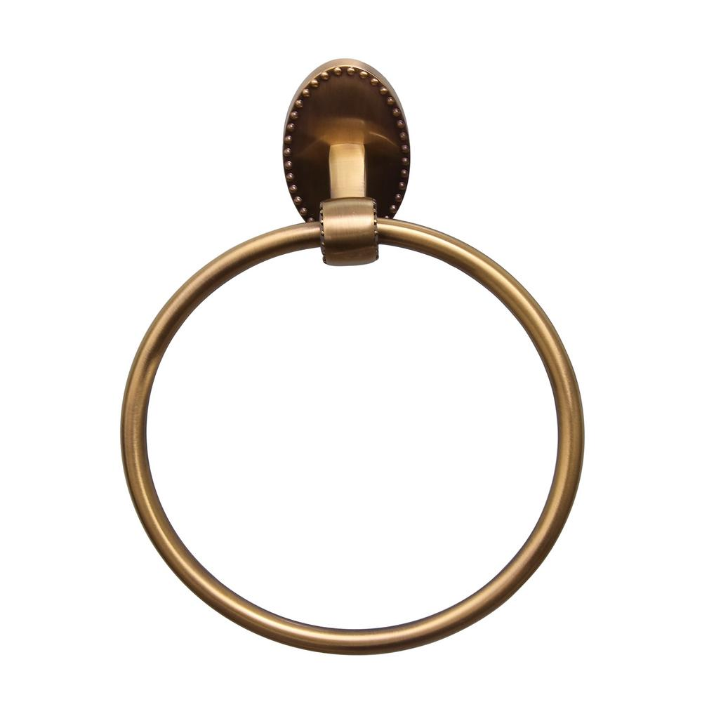 Barclay Products Cordelia Towel Ring in Antique Brass