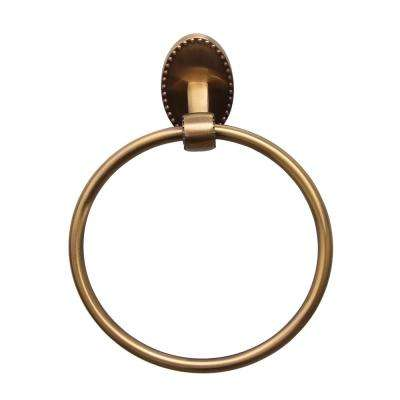 Cordelia Towel Ring in Antique Brass
