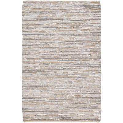 Jazz Silver Grey Tan 8 Ft X 11 Indoor Area Rug
