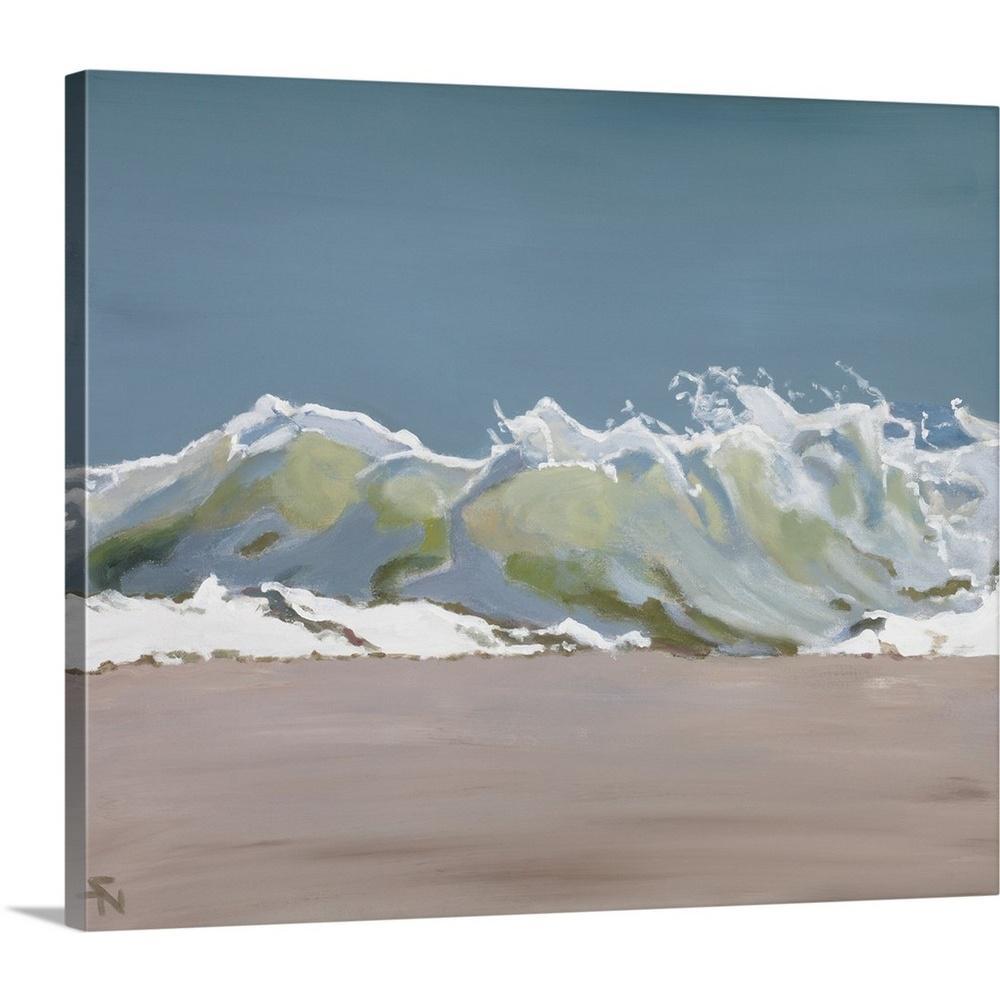"""""""Shore Break III"""" by Stephen Newstedt Canvas Wall Art"""