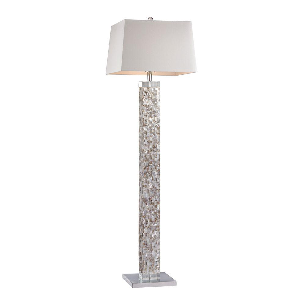 Titan Lighting 63 in. Mother of Pearl Floor Lamp