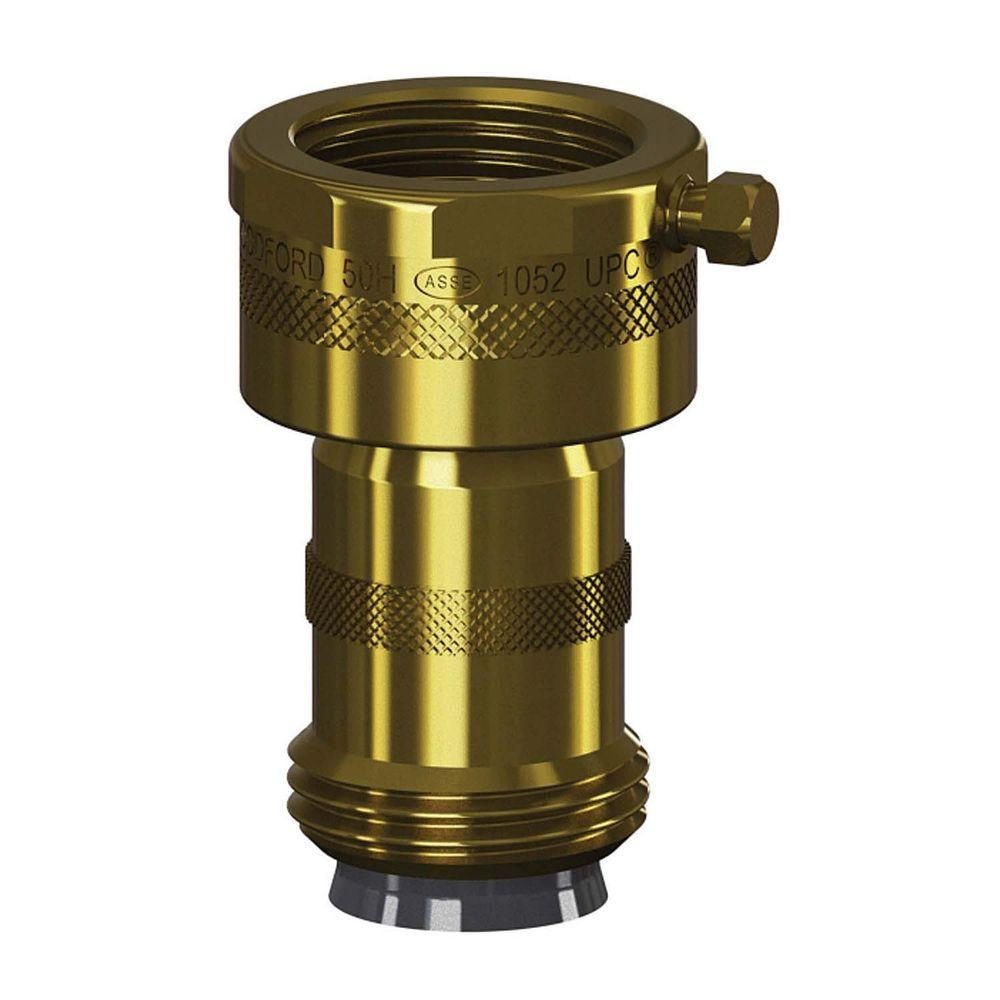 Woodford Add-On 3/4 in. Hose Thread Brass Double-Check Backflow ...