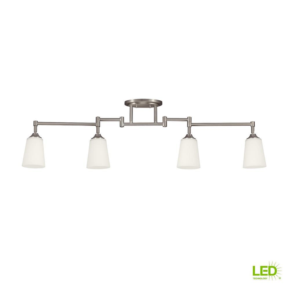 Sea Gull Lighting 4 Ft Light Brushed Nickel Led Track Kit