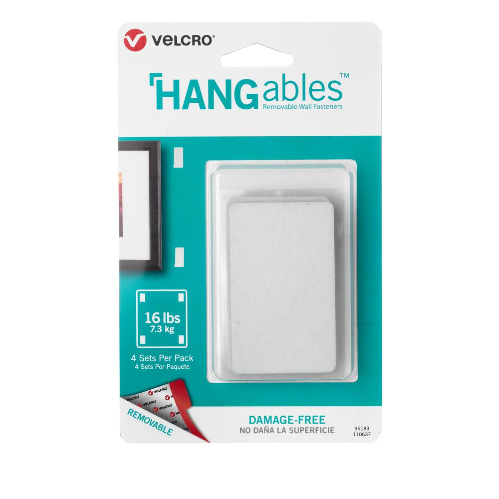 VELCRO Brand HANGables Removable Wall Fasteners 3 in. x 1-3/4 in ...