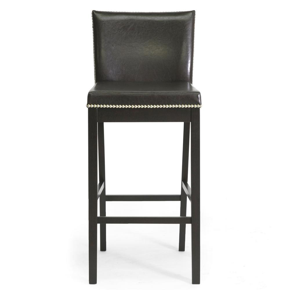 Baxton Studio Graymoor Traditional Dark Brown Faux Leather