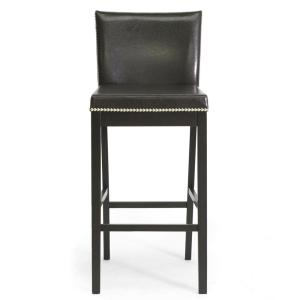 Baxton Studio Graymoor Traditional Dark Brown Faux Leather Upholstered 2-Piece Bar Stool... by Baxton Studio