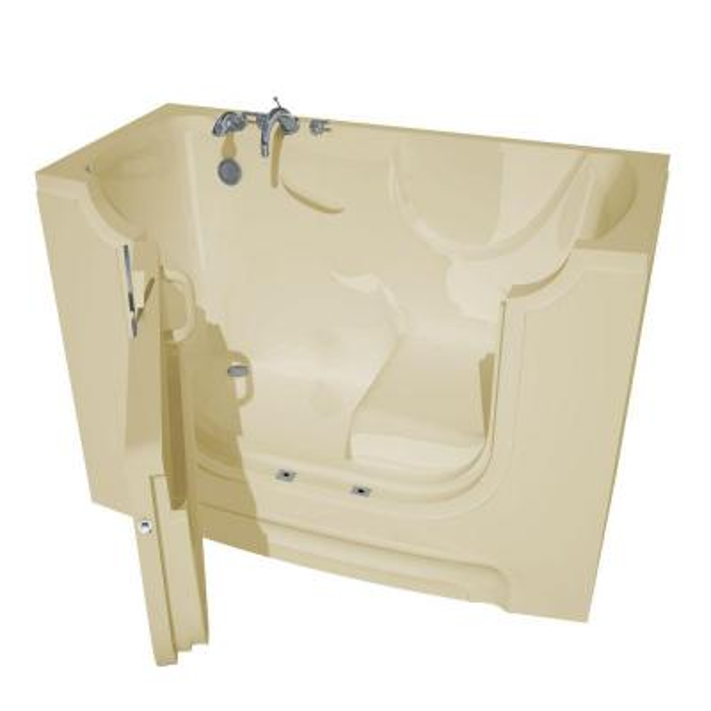 HD Series 30 in. x 60 in. Left Drain Wheelchair Access Walk-In Soaking Bathtub in Biscuit