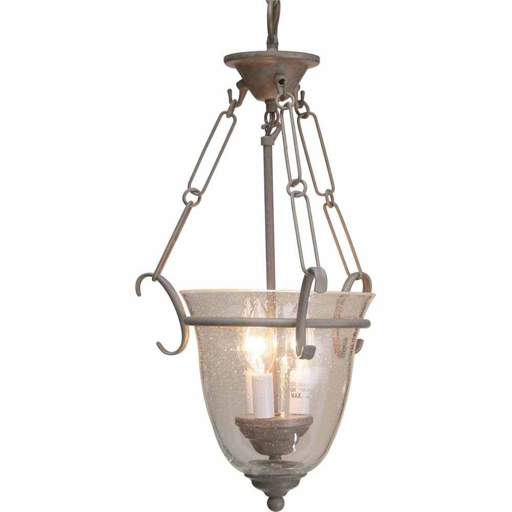 Filament Design Lenor 3-Light Prairie Rock Incandescent Ceiling Pendant