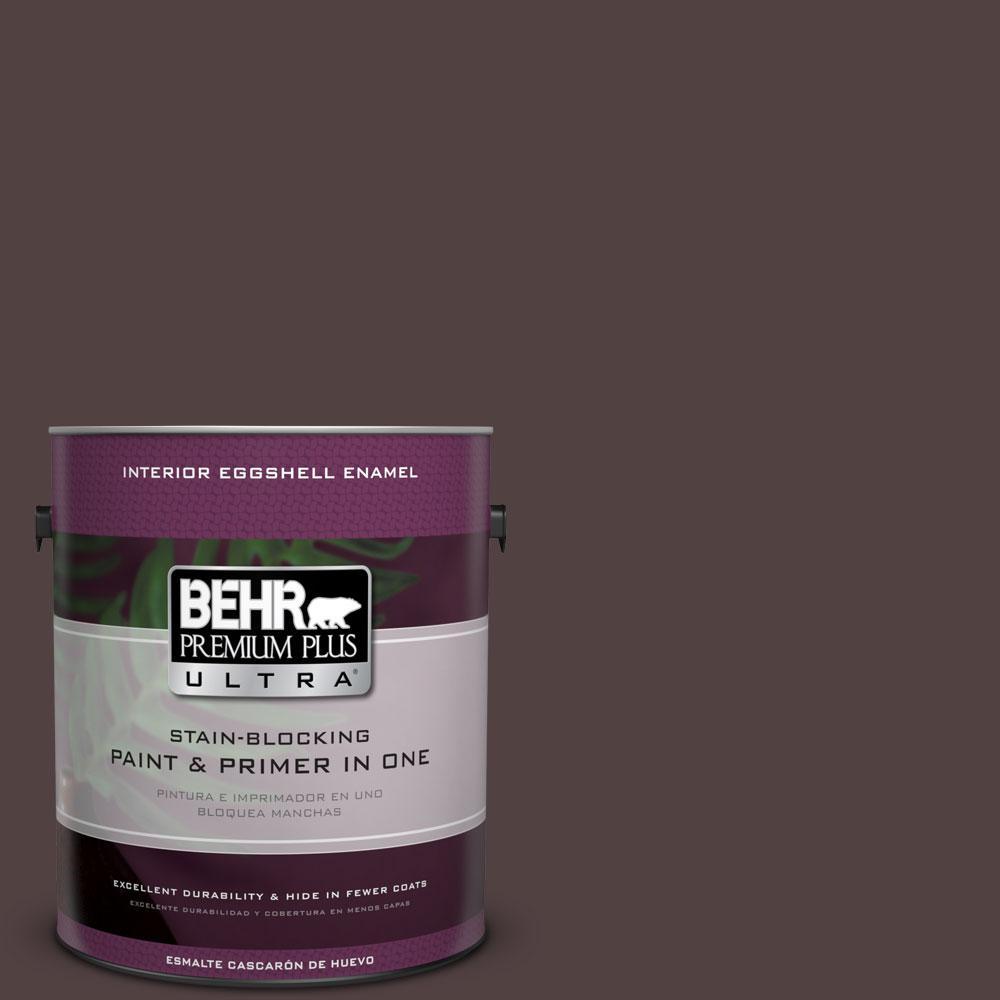 BEHR Premium Plus Ultra 1-gal. #BXC-87 Rich Bordeaux Eggshell Enamel Interior Paint