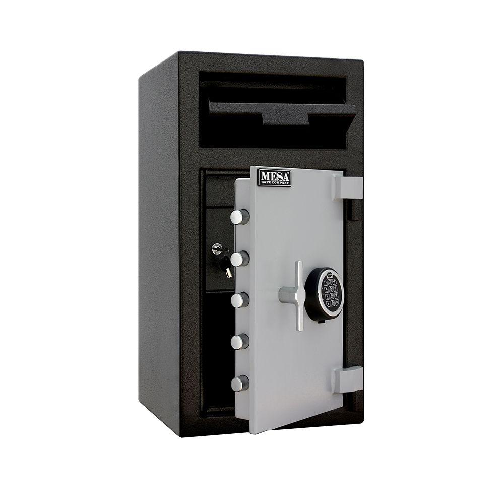1.3 cu. ft. All Steel Electronic Lock Depository Safe with Interior