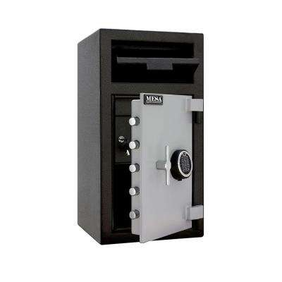1.3 cu. ft. All Steel Electronic Lock Depository Safe with Interior Locker in 2-Tone, Black and Grey