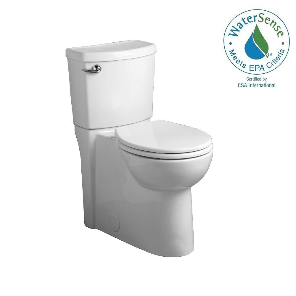 American Standard Cadet 3 FloWise 2-piece 1.28 GPF Single Flush Right Height Round Front Toilet with Concealed Trapway in White
