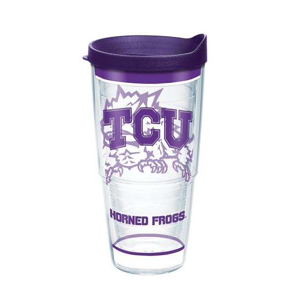Tervis Texas Christian University Tradition 24 Oz Double Walled Insulated Tumbler With Lid 1343902 The Home Depot
