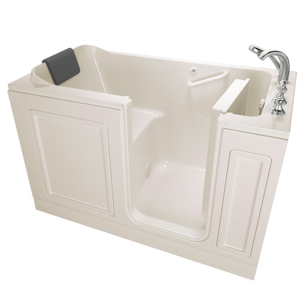 American Standard Acrylic Luxury Series 59.5 in. Right Hand Walk-In Soaking Tub in Linen